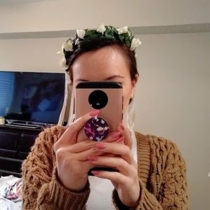 White Rose Flower Crown Headband